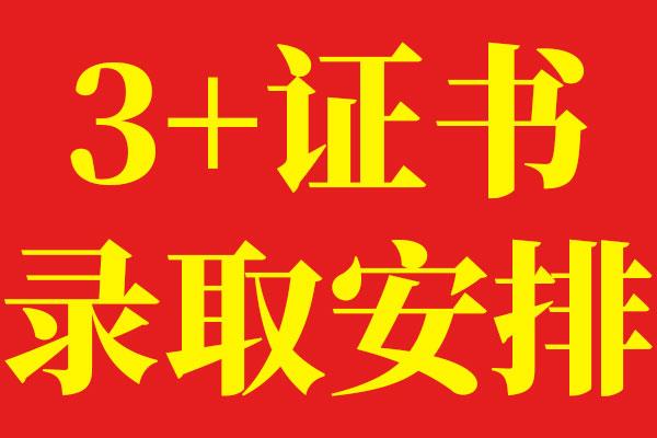 2020年广东省(3+证书)高职高考录取安排